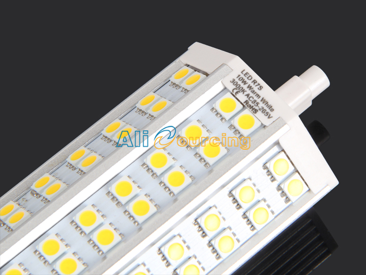 r7s 10w 118mm leuchtmittel 42 smd 5050 warmwei. Black Bedroom Furniture Sets. Home Design Ideas