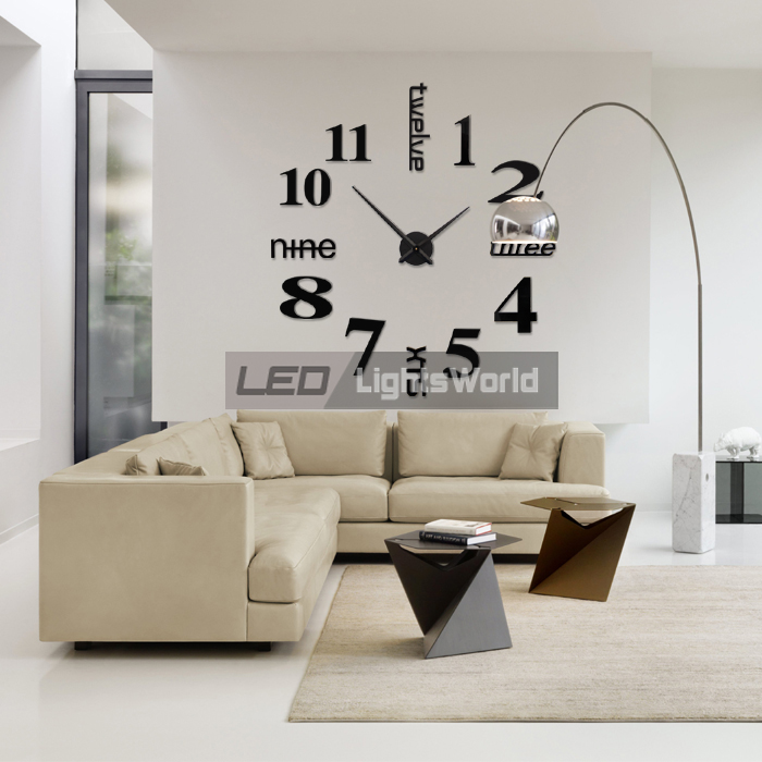 design wanduhr wand uhr wohnzimmer spiegel wandtattoo deko. Black Bedroom Furniture Sets. Home Design Ideas