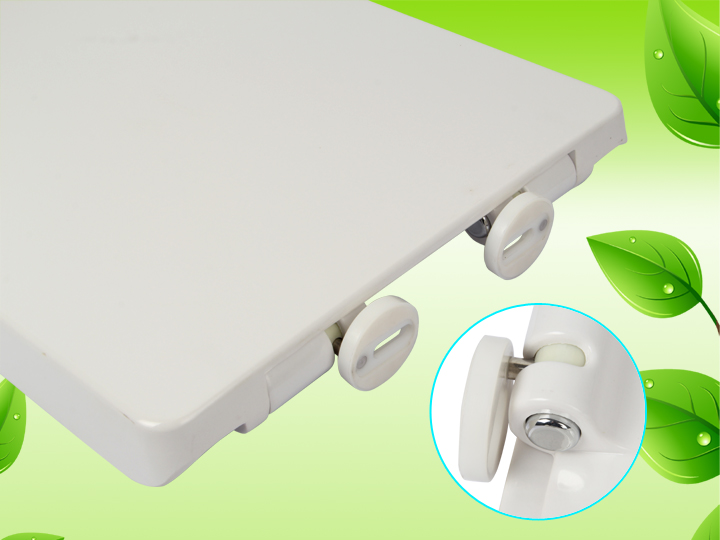 HEAVY DUTY BATHROOM WC SOFT SLOW CLOSE WHITE TOILET SEAT TOP FIXING HINGES UK