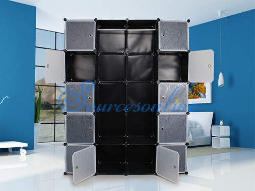 diy kleiderschrank lagerregal regal schrank steckregal standregal garderobe neu ebay. Black Bedroom Furniture Sets. Home Design Ideas