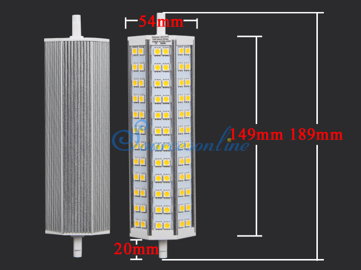 r7s led 72x5050 smd 15w warmwei dimmbar leuchtmittel. Black Bedroom Furniture Sets. Home Design Ideas